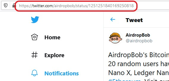 Twitter Post URL