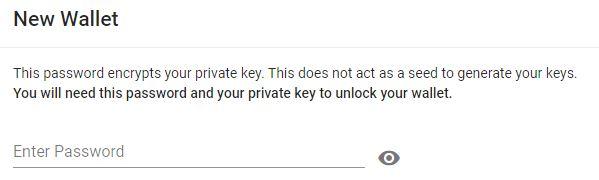 Wallet Enter Password